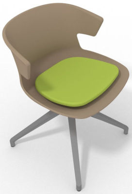 Elegante Spider Base Chair - Beige Light Green Aluminium