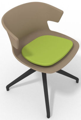 Elegante Spider Base Chair - Beige Light Green Shadow Grey