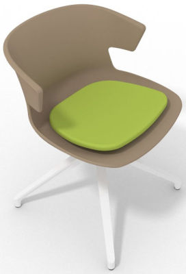 Elegante Spider Base Chair - Beige Light Green White