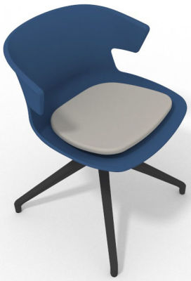 Elegante Spider Base Chair - Blue Light Grey Shadow Grey
