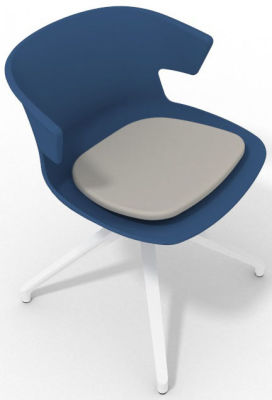 Elegante Spider Base Chair - Blue Light Grey White