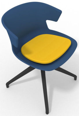 Elegante Spider Base Chair - Blue Yellow Shadow Grey