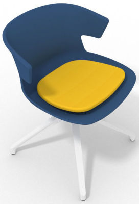 Elegante Spider Base Chair - Blue Yellow White