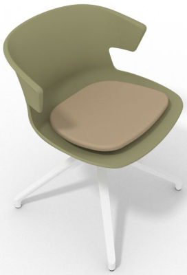 Elegante Spider Base Chair - Green Beige White