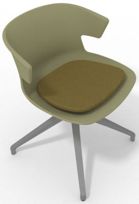 Elegante Spider Base Chair - Green Olive Green Aluminium