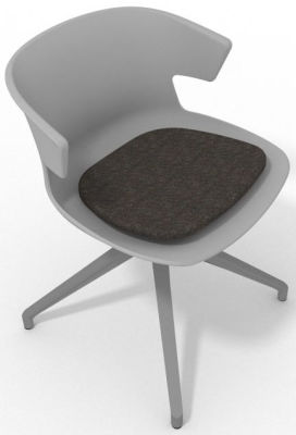 Elegante Spider Base Chair - Grey Dark Brown Aluminium