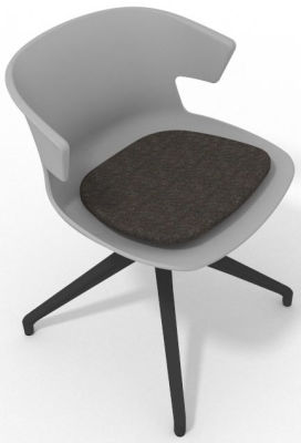 Elegante Spider Base Chair - Grey Dark Brown Shadow Grey