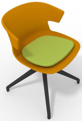 Elegante Spider Base Chair - Ochre Green Shadow Grey