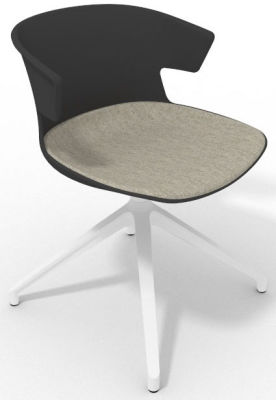 Elegante Spider Base Chair - Anthracite Beige White