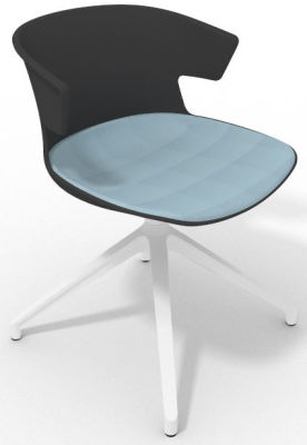 Elegante Spider Base Chair - Anthracite Light Blue White