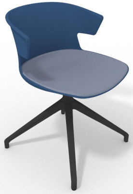 Elegante Spider Base Chair - Blue Pidgeon Blue Shadow Grey