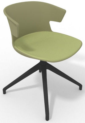 Elegante Spider Base Chair - Green Light Green Shadow Grey