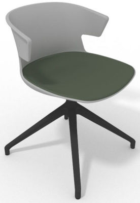 Elegante Spider Base Chair - Grey Green Shadow Grey