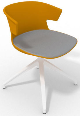 Elegante Spider Base Chair - Ochre Grey White