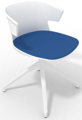 Elegante Spider Base Chair - White Blue White