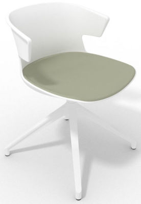 Elegante Spider Base Chair - White Olive Grey White