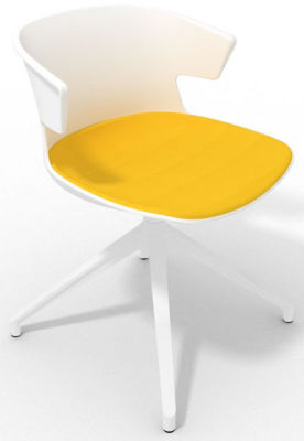 Elegante Spider Base Chair - White Yello White