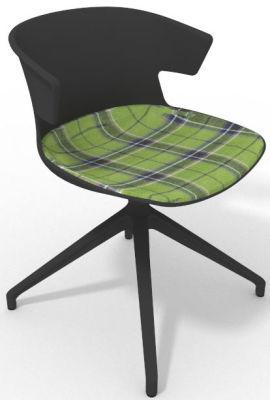 Elegante Spider Base Chair - Anthracite Tartan Green Shadow Grey