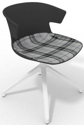 Elegante Spider Base Chair - Anthracite Tartan Grey White