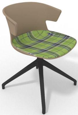 Elegante Spider Base Chair - Beige Tartan Green Shadow Grey