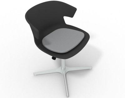 Elegante 4 Star Base Chair - Anthracite Grey Aluminium