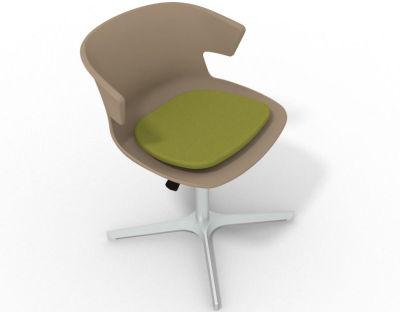 Elegante 4 Star Base Chair - Beige Green Aluminium