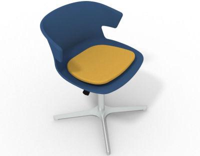 Elegante 4 Star Base Chair - Blue Yellow Aluminium