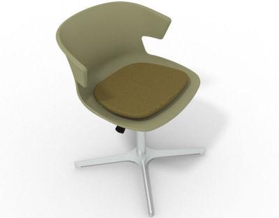 Elegante 4 Star Base Chair - Green Olive Green Aluminium