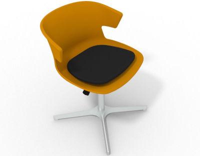 Elegante 4 Star Base Chair - Ochre Black Aluminium