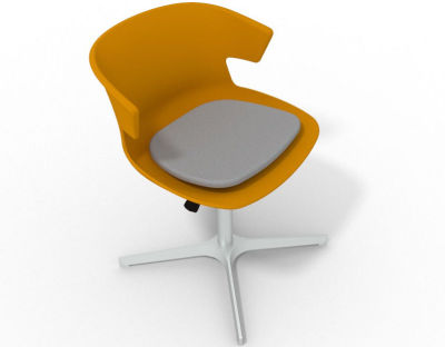 Elegante 4 Star Base Chair - Ochre Grey Aluminium