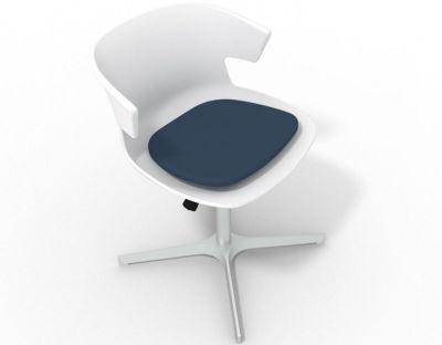 Elegante 4 Star Base Chair - White Night Blue Aluminium