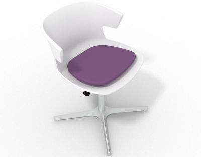 Elegante 4 Star Base Chair - White Violet Aluminium