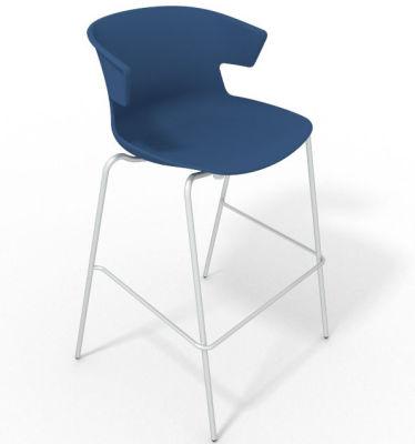 Elegante 4 Leg Bar Stool - Blue