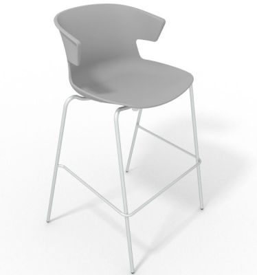 Elegante 4 Leg Bar Stool - Grey