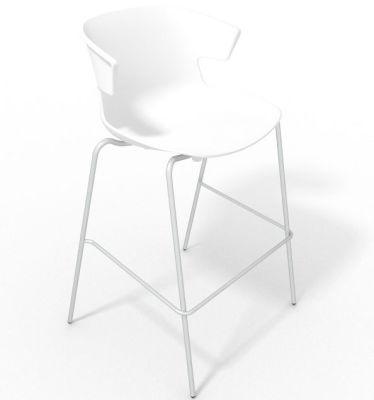 Elegante 4 Leg Bar Stool - White