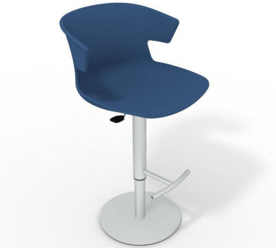 Elegante Height Adjustable Swivel Bar Stool - Blue