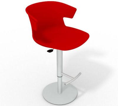 Elegante Height Adjustable Swivel Bar Stool - Red