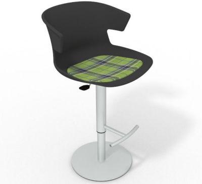 Elegante Height Adjustable Swivel Bar Stool - Feature Seat Pad Anthracite Green