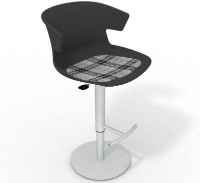 Elegante Height Adjustable Swivel Bar Stool - Feature Seat Pad Anthracite Grey