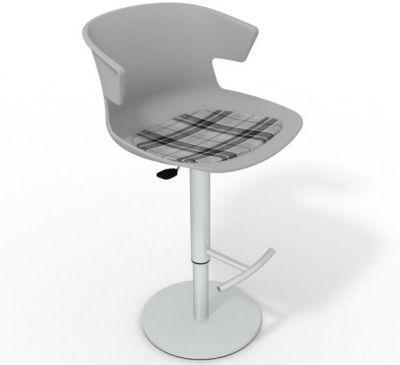 Elegante Height Adjustable Swivel Bar Stool - Feature Seat Pad Grey Grey