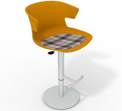 Elegante Height Adjustable Swivel Bar Stool - Feature Seat Pad Ochre Brown