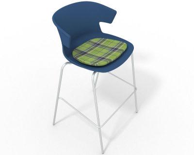 Elegante 4 Leg Bar Stool - With Feature Seat Pad Blue Green