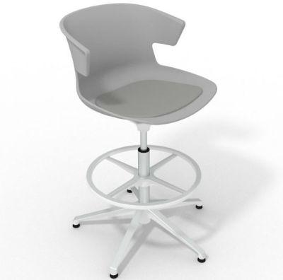 Elegante Height Adjustable Drafting Stool - With Seat Pad Grey Grey White