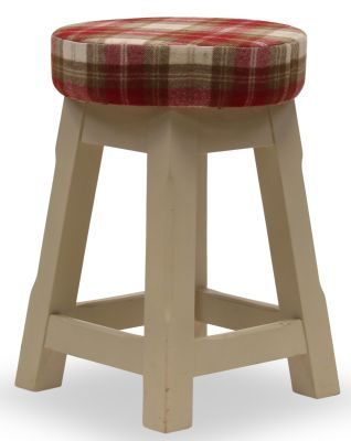 Modeno Button Top Low Stool - Upholstered Seat Pad 1