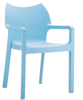 Theo Outdoor Plasic Armchair In Light Blue