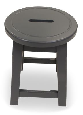 Modeno Paint Button Top Low Stool Grey Top View