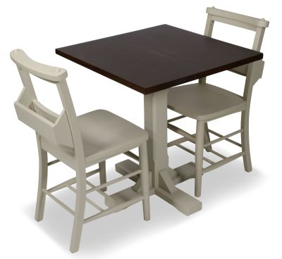 CHURCH DINING CHAIR AND TABLE SET 2 TOP VIEW