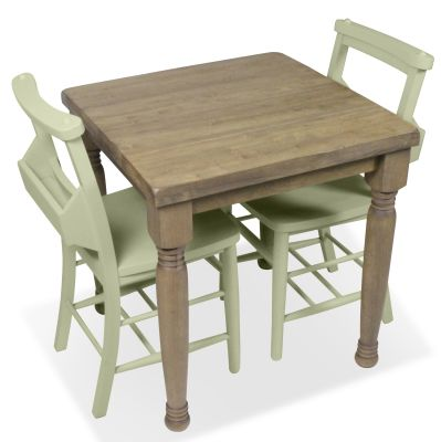 Church Dining Chair And Table Set 8 Green