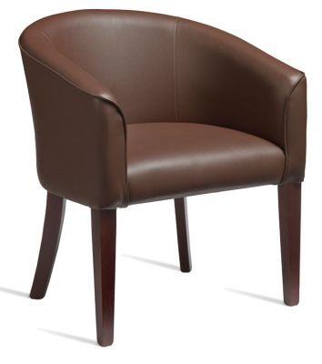 POLKA Brown Leather Tub Chair