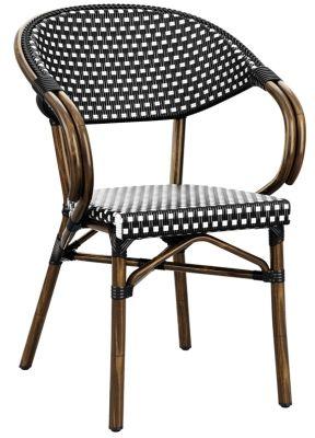 Bibat Black And White Continental Armchair